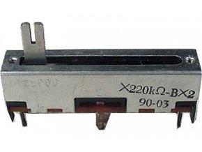 220K / G x2, TELPOD SVP-30, potenciometer ťahový tandemový