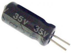 47u / 35V 105 ° 6x11x2mm, elektrolyt.kondenzátor radiálne