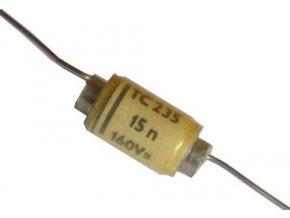 15n / 160V TC235, zvitkový kondenzátor axiálne