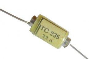 33n / 160V TC235, zvitkový kondenzátor axiálne
