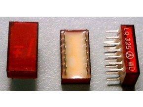 LQ325 zobrazovač + -1., Červený, TESLA