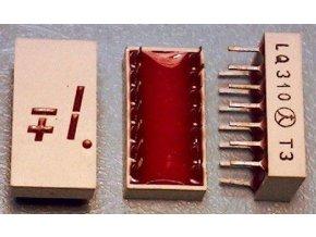 LQ310 zobrazovač + -1., Červený, TESLA