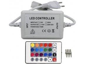 Napáječ s dálkovým ovládáním pro LED pásek 230V RGB