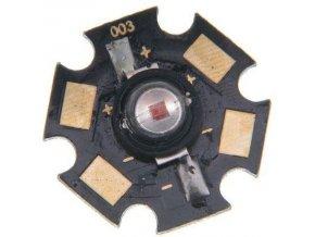 LED 1W červená 625n, 40lm / 350mA, 120 °