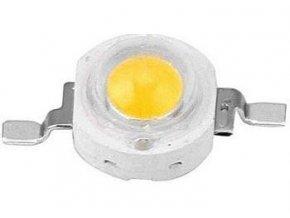 LED 3W teplá biela 3000K, 160L, 3,2-3,6V, 120 °