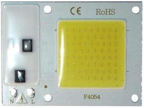 LED 10W, biela 6000K, 1000L, 120 °, napájanie 230VAC