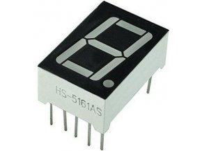 Displej LED 5161BS 8. červený, spoločná anóda, (19x13mm)