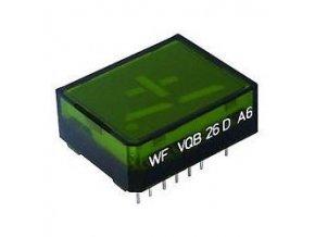 VQB26D zobrazovač +1., Zelený, RFT