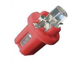 Žiarovka LED B8,5D 12V / 0,2W červená