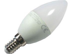 Žiarovka LED E14 C35 sviečková, biela, 230V / 4,5W, stmievateľná