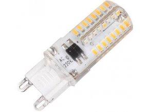 Žiarovka LED G9, 64x SMD3014, 230VAC / 2,5W, teplá biela