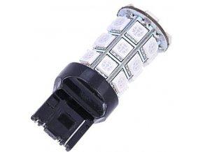 Žiarovka LED T20 (7440) 12V / 4W červená, 24xSMD5050