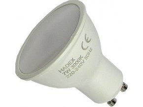 Žiarovka LED GU10, 10xSMD2835, 230V / 7W, teplá biela