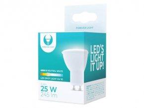 Žiarovka LED GU10, 230V / 3W, 4500K, 245lm, Forever Light