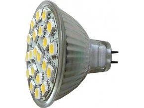 Žiarovka LED MR16-21xSMD5050, biela teplá, 12V