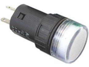 Kontrolka 24V LED 19mm, biela