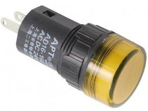 Kontrolka 12V LED 19mm, žltá