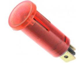 Kontrolka 230V s tlejivkou, červená, priemer 12,5mm