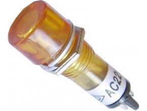 Kontrolka 230V s tlejivkou, oranžová do otvoru 10mm