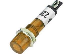 Kontrolka 230V s tlejivkou, oranžová do otvoru 7mm
