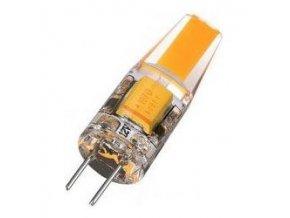Žiarovka LED G4 teplá biela, 12V / 2W, COB, silikónový obal