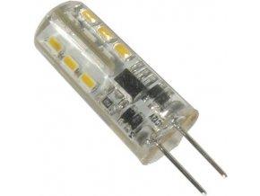 Žiarovka LED G4 teplá biela, 12V / 1,6W, 24x SMD3014, silikónový obal