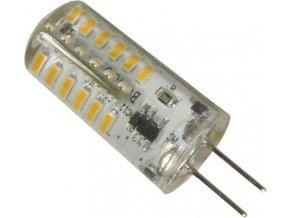 Žiarovka LED G4 biela, 12V / 2W, 48x SMD3014, silikónový obal