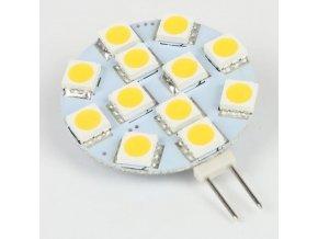 Žiarovka LED G4, 12xSMD biela teplá, 12V / 2W