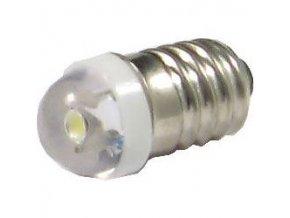 Žiarovka LED E10 biela 12V / 0,3W