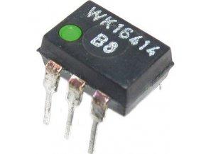 WK16414-3 optočlen, DIP6 zelená bodka