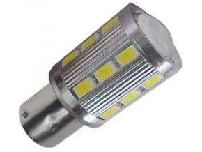 Žárovka LED BaY15D 10-30V/5W červená, brzdová/obrysová
