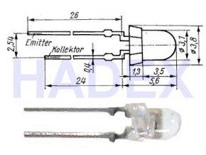 SP213F fototranzistor infraprijímačom