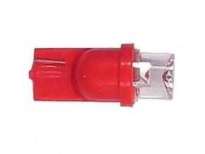 Žiarovka LED T10 12V / 0,25W červená