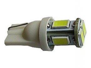 Žiarovka LED T10 12V / 2,5W biela, 6xSMD5630