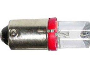 Žiarovka LED Ba9s 12V / 0,25W červená