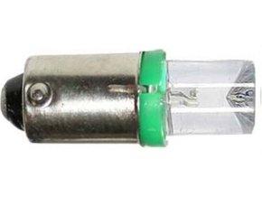 Žiarovka LED-1x Ba9s 12V / 0,25W zelená
