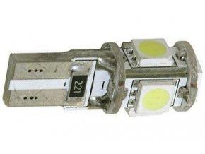 Žiarovka LED T10 12V / 1,5W, biela, CANBUS, 5xSMD5050