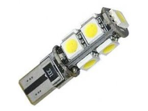 Žiarovka LED T10 12V / 2,3W, biela, CANBUS, 9xSMD5050