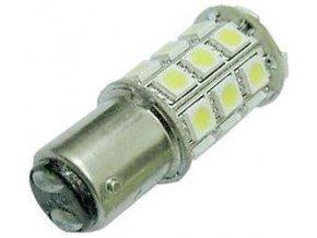 Žiarovka LED BAY15d 12V / 5W, biela, brzdová / obrysové, 27xSMD5050