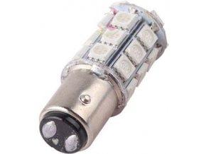 Žiarovka LED BAY15d 12V / 5W, červená, brzdová / obrysové, 27xSMD5050