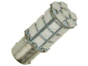 Žiarovka LED BA15s 12V / 5W červená, 27xSMD5050