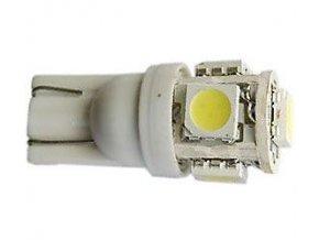 Žiarovka LED T10 12V / 1,5W biela, 5xSMD5050