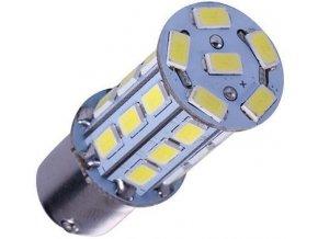 Žiarovka LED BAY15d (bŕzd / obrys) 12V / 6W biela, 27xSMD5730