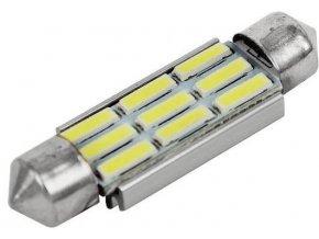 Žiarovka LED SV8,5-8 sufit, 12V / 3W, 9xLED7020, biela, CANBUS, dĺžka 42mm