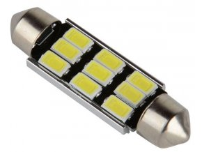 Žiarovka LED SV8,5-8 sufit, 12V / 3W, 9xLED5730, biela, CANBUS, dĺžka 42mm
