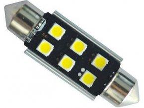 Žiarovka LED SV8,5-8 sufit, 12-24V, 6xLED3030, biela, CANBUS, dĺžka 39mm