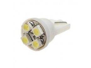 Žiarovka LED T10 12V / 0,5W biela, 4xSMD3528