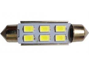 Žiarovka LED SV8,5-8 sufit 39mm 12V / 2W biela, 6xLED5730