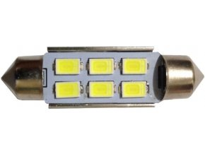 Žiarovka LED SV8,5-8 sufit 36mm 12V / 2W biela, 6xLED5730