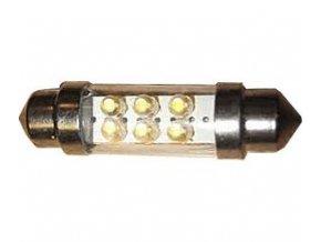 Žiarovka LED SV8,5-8 sufit 36mm 12V / 2W biela, 6xLED 1,8mm